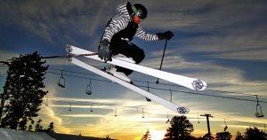 Snow skiing at Lake Arrowhead